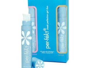 Per-fékt, which should be applied to the cheekbones, forehead and the bridge of the nose, is available in two different shades and helps boost natural skin color
