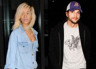 Rihanna has been spotted making a midnight visit to Ashton Kutcher's house in Los Angeles on Wednesday