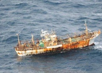 The Japanese trawler is part of the 5 million tons of debris that were swept into the ocean by the last year tsunami