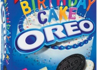 """To mark the cookie's centenary, Nabisco released a limited edition of """"Birthday Cake"""" Oreo"""