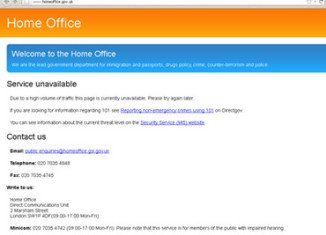 Anonymous hacking group is alleged to have disrupted access to the UK Home Office website
