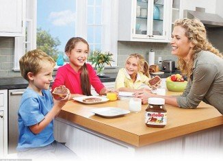 """Athena Hohenberg and her lawyers claimed that Nutella intentionally presents their product as part of a """"balanced breakfast"""" and features happy, healthy families enjoying it alongside fruit and whole wheat bread"""