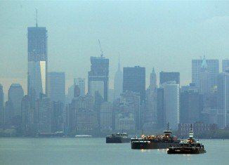 Balmoral cruise ship has arrived in New York after completing its journey to mark the centenary of the Titanic disaster