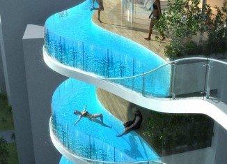 Mumbai's Aquaria Grande skyscrapers will have swimming pools instead of balconies