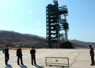 North Korea has made the arrangements to put into position a long-range rocket for a controversial launch next week