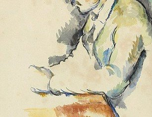 The late 19th-century work on paper is one of Paul Cezanne's preparatory studies for his seminal Card Players series of five paintings