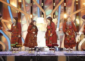 Buranova Babushkas, a group comprises six pensioners from a church choir in rural Russia, will perform Party for Everyone, a cross between a traditional folk tune and a dance track