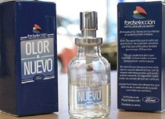 "Ford Spain has created a perfume called Olor a Nuevo (which means ""smells new""), the scent of new car"