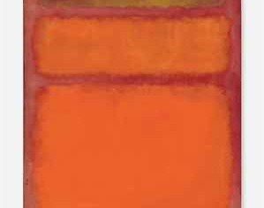"""Mark Rothko's artwork """"Orange, Red, Yellow"""" has achieved the highest ever price for a piece of contemporary art at auction fetching $86.9M"""