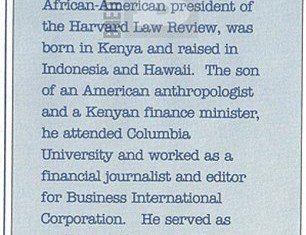 The political row over President Barack Obama's heritage was dramatically reignited today as a 1991 booklet boldly announced that he was born in Kenya and raised in Indonesia and Hawaii