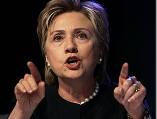 US Secretary of State Hillary Clinton says Russian policy will contribute to a potential civil war in Syria