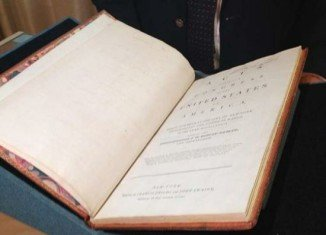 George Washington's personal copy of the US constitution has sold for almost $10 million