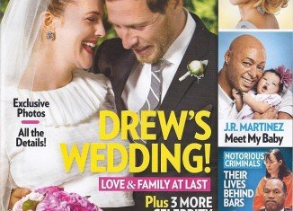 In the first official romantic snap for People magazine, art director Will Kopelman is seen tenderly cradling Drew Barrymore's baby bump as she smiles and near nuzzles into her new husband