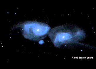 Milky Way and Andromeda are being pulled together by their mutual gravity and the scientists expect them to begin to merge in about four billion years' time
