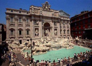 Rome's iconic Fontana di Trevi appears to be the latest monument to show its age as chunks of plaster and stucco have been falling from the structure