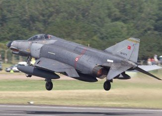 """The Syrian military has confirmed that it shot down Turkish warplane F-4 Phantom """"flying in airspace over Syrian waters"""