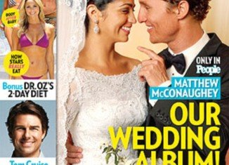 The first picture from Matthew and Camila McConaughey's intimate wedding has been revealed on the cover of People magazine