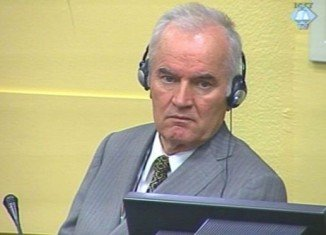 The trial of Bosnian Serb General Ratko Mladic has been suspended until further notice