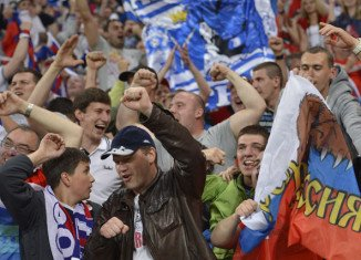 """UEFA has initiated disciplinary proceedings against the Football Union of Russia for """"improper conduct of supporters"""" during Friday's Euro 2012 game against the Czech Republic in Wroclaw"""