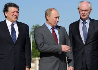 Vladimir Putin will hold talks with Jose Manuel Barroso and Herman Van Rompuy