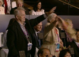 A German dignitary at the Olympic Opening Ceremony appeared to greet his country's athletes with a Nazi salute