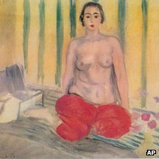 A man and a woman allegedly tried to sell Matisse's Odalisque A La Culotte Rouge to undercover FBI agents