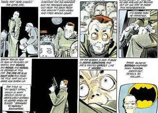 Aurora cinema bloodbath is a chilling copycat of a 1986 Batman comic strip which features a deranged gunman opening fire in a cinema