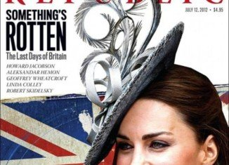 Duchess of Cambridge was PhotoShopped like the American stereotype of a Brit with bad gnashers for a special issue of the politics and arts publication The New Republic about the future of Britain