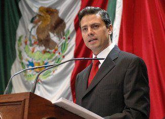 Enrique Pena Nieto is on some 38 percent, several points ahead of Andres Manuel Lopez Obrador