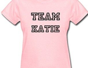 Following the news of Katie Holmes and Tom Cruise split, Team Katie T-shirts are already up for sale