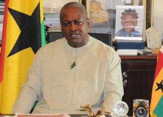 Former Ghana's Vice President John Dramani Mahama was sworn in several hours after John Atta Mills died at a hospital in Accra