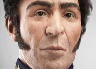 Hugo Chavez has unveiled a 3-D reconstruction of the face of Simon Bolivar