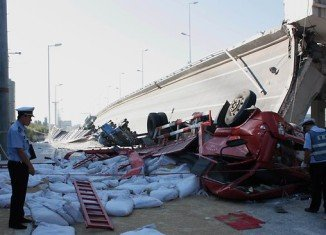 A section of a multi-million dollar bridge in China that opened in November has collapsed, killing three people and injuring other five