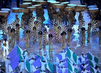Brazilian carnival dancers invaded the stage in the final section of the closing ceremony last night to symbolize the handover from London 2012 to Rio 2016