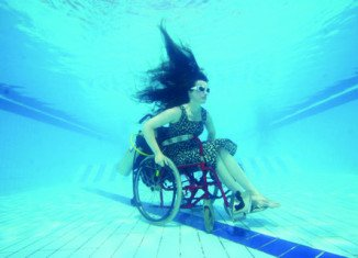 British artist Sue Austin is preparing to show off a prototype self-propelled underwater wheelchair to the public