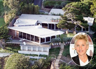 Ellen DeGeneres has made a $1million profit by selling her Malibu beach house just six months after buying it from Brad Pitt