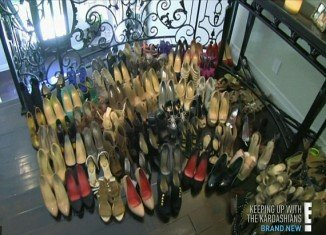 """Kim Kardashian donated nearly 100 pairs of designer shoes to charity after Kanye West dismissed her huge closet as """"ghetto"""""""
