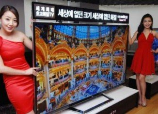 LG Electronics has released what is described as the world's biggest ultra-definition (UD) TV