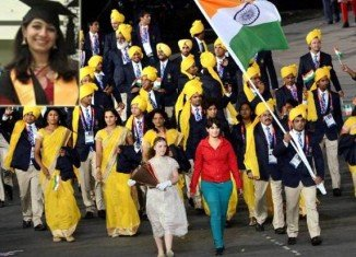 """Madhura Nagendra, the woman who appeared in India's Olympic contingent in the opening ceremony, has apologized for an """"error of judgement"""