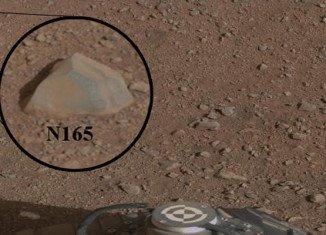 NASA's Mars Science Laboratory Curiosity has zapped its first Martian rock