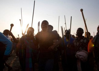 Police in South Africa have opened fire during clashes with striking workers at Lonmin platinum mine in Marikana, leaving at least seven people dead