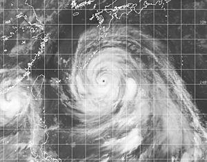 Strong Typhoon Bolaven is heading toward the Japanese island of Okinawa