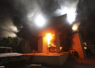 A US state department official was killed when a gunmen stormed the US consulate in the eastern Libyan city of Benghazi