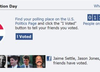 A new research has found that a banner message on Facebook showing users' friends who had voted drove a third of a million more voters to the poll booths