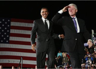 Bill Clinton made an insensitive racial remark about Barack Obama while his wife battled him for the Democratic nomination vote