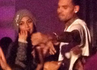 Chris Brown and Nicole Scherzinger enjoy a night out at Black Pyramid Party in LA