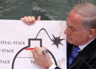 In a speech at the UN, Benjamin Netanyahu said time was running out to stop Tehran from having enough enriched uranium to build a nuclear bomb