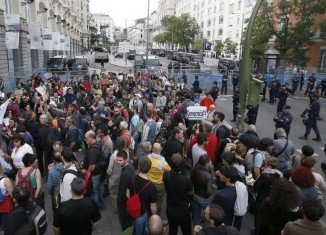"""Indignants, as the protesters are known, say they are protesting at the """"kidnapping"""" of democracy"""