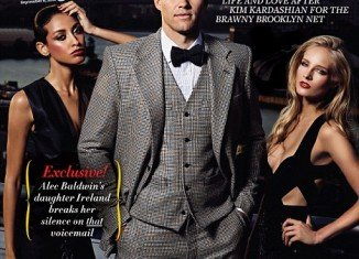 Kris Humphries appears on the cover of the new Page Six magazine, looking dapper in a tweed three-piece suit, complete with bow tie