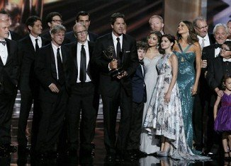 The Modern Family won the Outstanding Comedy award for the third year in a row